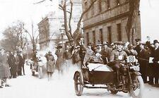 FOTO 1928 RUND UM WIEN HARLEY DAVIDSON GESPANN SEITENWAGEN STADLAU MOTORRAD