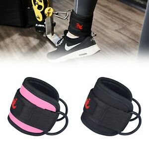 Multi Gym D Ring Ankle Cuff Strap Cable Attachment Weight Lifting Gluts Workout