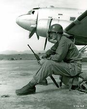 "US Soldier with C-47 plane at Ashiya Air Force Base 8""x 10"" Korean War Photo 17"