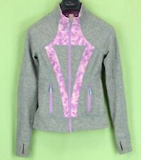 361 Ivivva Lululemon girl gray full zip long sleeve jacket sweatshirt EUC 10