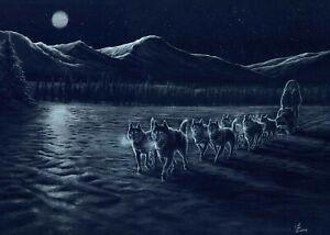 'Chasing The Dream', Siberian Husky Print by Vic Bearcroft