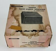 VINTAGE WEDGE TWIN STEREO SPEAKERS by Arthur Fulmer Stereosonic NEW IN BOX