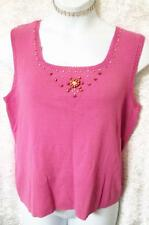 JM COLLECTION PLUS SZ XL 1X 18 20 KNIT TOP BEADED LAVENDER