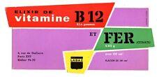 Buvard publicitaire laboratoire Labaz vitamine B12