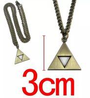 Legend Of Zelda Triforce Necklace Pendant Charm Gold Chain 3cm US Seller