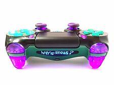 PS4 Dualshock 4 Custom Controller-Joker SE-Purple, Green, Black-LED Illumination