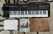 Roland D-20 Vintage Multi Timbral Linear Synth Sequencer Keyboard plus manuals
