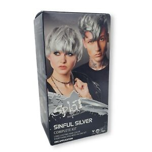 Splat Sinful Silver Complete Hair Dye Kit Long Lasting Color One Application