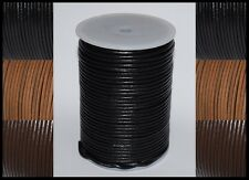 2mm, 2.5mm, 3mm, 4mm & 5mm  ROUND 100% REAL LEATHER CORD LACE CRAFT THONG STRiNG