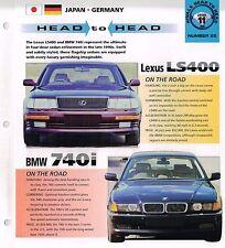 Lexus LS 400 vs. BMW 740i Road Test Brochure