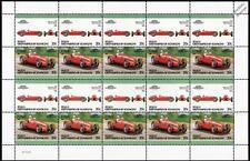 1939 MASERATI 8 CTF BOYLE Race Car 20-Stamp Sheet Auto 100 Leaders of the World
