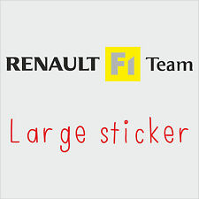1 x LARGE Renault F1 Team Sticker Decal New Style in BLACK (clio, megane, sport)