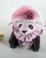 Artist teddy bear stuffed Panda Pietro. Panda bear. OOAK art doll