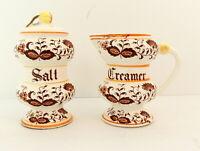 Vintage Brown Onion Salt Shaker & Creamer Ceramic