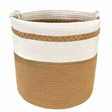 Cotton Rope Basket Large Woven Storage Bins With Handles for Laundry Toy Blanket