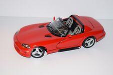Burago Red Dodge Viper Die Cast 1:18 Scale