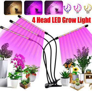 4 Heads LED Grow Light Plant Growing Lamp Light for Indoor Plants Hydroponics US