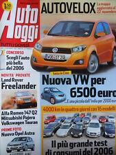 Auto Oggi n°48 2006 Alfa Romeo 147 Q2 Mitsubishi Pajero Volkswagen Touran  [P45]
