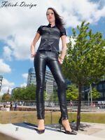 Lederhose Skinny Lederleggings Schwarz Echtes Leder S M L XL XXL 3XL 4XL 5XL