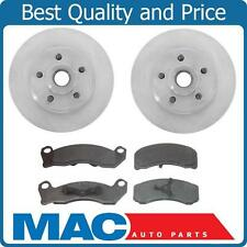 1988-1991 Lincoln Mark VII With ABS Front  Brake Rotor Pads 2 Rotors 5463 MD199