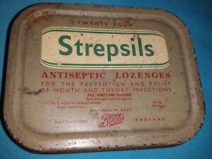 Vintage Strepsils® Metal Box, Made in England