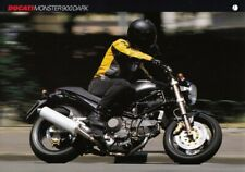 P + DUCATI Monster 900 Dark + Prospekt flyer + 1 Blatt / 2 Seiten + aus 1999