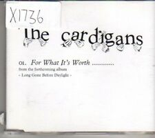 (CL507) The Cardigans, For What It's Worth - 2003 DJ CD