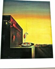 Salvador Dali Friend Eggs on a Plate without the Plate Dropping Eggs 14x11