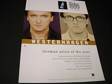 Westernhagen German Artist Of The Year 1999 Promo Display Ad mint condition
