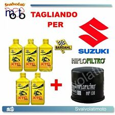TAGLIANDO FILTRO OLIO + 5LT BARDAHL XTC 10W40 SUZUKI VS INTRUDER 1400 2001