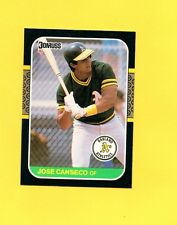1987 DONRUSS JOSE CANSECO #97 OAKLAND A'S CARD LOT 1384