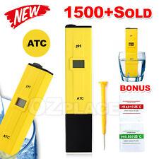 Digital Ph Meter Hydroponics Pool Spa Aquarium Liquid Measure Tester Pocket Pen
