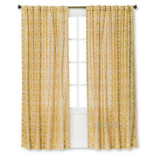 NEW Threshold One Window Treatment Panel Gold Moroccan Tile 54x84 Cotton Curtain