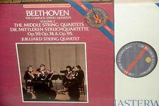 JUILLIARD QUARTET*BEETHOVEN :middle quartets *CBS DIGITAL 3LP BOX *NM