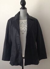 Amalfi Black Leather Women's Jacket Size M