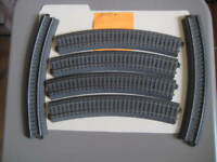 Used Lot of 6 Marklin H0 24230 Curved C Track Section from layout -LN