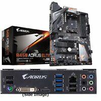 GIGABYTE B450 AORUS ELITE ATX Gaming Motherboard MB4624 AMD B450 Chip Computer !
