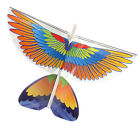 Electric Parrot Paper Airplane Model DIY Power Up Flying Plane Kids Toys