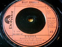 "BILLY CONNOLLY - D.I.V.O.R.C.E.     7"" VINYL"