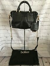 Botkier Small Satchel Cross-body Black Leather Handbag