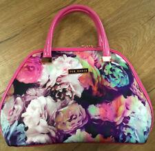 Ted Baker Pink Multi Floral toiletry bag / Make Up Bag Used Once