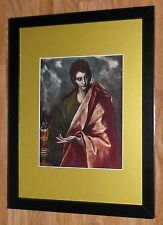 "Incorniciato 12"" x16"", El Greco, St. John, i comandanti dipinti, BIBBIA DIPINTI"