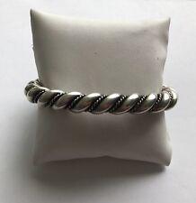Heavy Navajo Sterling Braided Rope Cuff Bracelet  100 g.