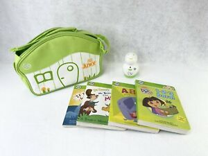 LeapFrog Tag Junior Reader w 5 Books Carrying Case Dora Dr. Seuss If I Were ABC