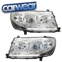 TOYOTA LANDCRUISER 100 SERIES 05- CHROME BLACK ALTEZZA HEAD LIGHTS GXL VX SAHARA