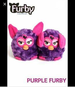 FURBY STOMPEEZ PURPLE SLIPPERS. Kids/Childs Size X-SMALL 7-9. FREE UK P&P.