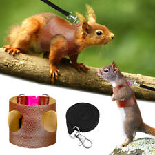 Hamster Harness Small Animal Guinea PigFerret Squirrel Rat Leather Harness Leash