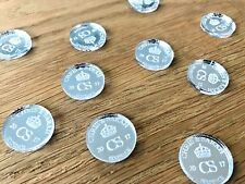 Personalised Silver Wedding Table Decorations Favours Scatters Lucky Sixpence