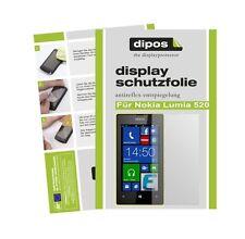 Nokia Lumia 520 Schutzfolie matt Displayschutzfolie Folie Antireflex dipos 1A