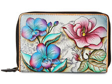 Anuschka Dainty & Arty Double Compartment Multi Organizer Wallet- Floral Fantasy